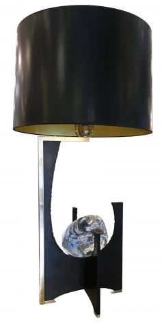 Esperia Galileo Black Iron and Glass Table Lamp by Esperia - 397314