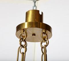 Esperia Mid Century Modern Italian Signed Esperia Murano Glass and Brass Chandelier - 529171