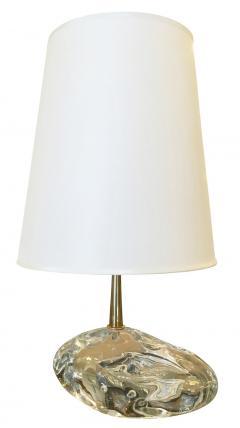 Esperia Sassone Glass Amber Table Lamps By Esperia   218790