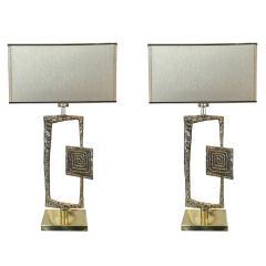 Esperia Sculptural Cast Bronze Tea Table Lamps by Esperia - 209940