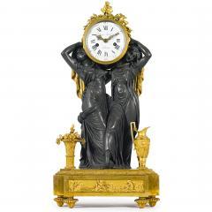 Etienne Lenoir Louis XVI style gilt and patinated bronze Mantel Clock by tienne LeNoir - 2034501