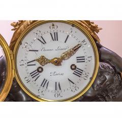 Etienne Lenoir Louis XVI style gilt and patinated bronze Mantel Clock by tienne LeNoir - 2034504