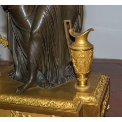 Etienne Lenoir Louis XVI style gilt and patinated bronze Mantel Clock by tienne LeNoir - 2034505