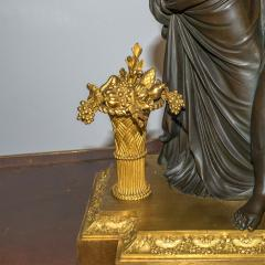 Etienne Lenoir Louis XVI style gilt and patinated bronze Mantel Clock by tienne LeNoir - 2034506