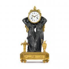 Etienne Lenoir Louis XVI style gilt and patinated bronze Mantel Clock by tienne LeNoir - 2034509