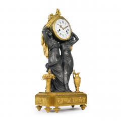 Etienne Lenoir Louis XVI style gilt and patinated bronze Mantel Clock by tienne LeNoir - 2034510