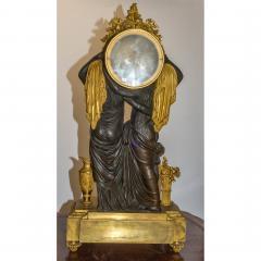 Etienne Lenoir Louis XVI style gilt and patinated bronze Mantel Clock by tienne LeNoir - 2034512