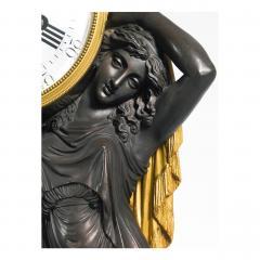 Etienne Lenoir Louis XVI style gilt and patinated bronze Mantel Clock by tienne LeNoir - 2034514