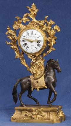 Etienne Lenoir c 1765 Ormolu and Patinated Horse Clock - 1276299