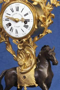 Etienne Lenoir c 1765 Ormolu and Patinated Horse Clock - 1276323