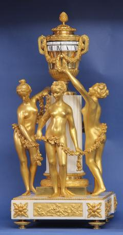 Etienne Maxant c 1885 French 3 Graces Annular Clock - 1276300