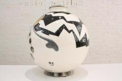 Fa enceries et Emaux de Longwy Vase Emaux de Longwy Femme au collier Art Deco - 1598704