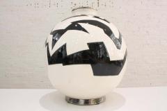 Fa enceries et Emaux de Longwy Vase Emaux de Longwy Femme au collier Art Deco - 1598705