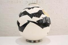 Fa enceries et Emaux de Longwy Vase Emaux de Longwy Femme au collier Art Deco - 1598706