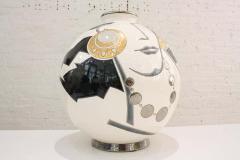 Fa enceries et Emaux de Longwy Vase Emaux de Longwy Femme au collier Art Deco - 1598707