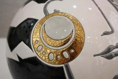 Fa enceries et Emaux de Longwy Vase Emaux de Longwy Femme au collier Art Deco - 1598708