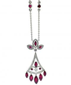 Faberg Burma ruby and Diamond Necklace by Faberge New York - 1141431