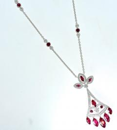 Faberg Burma ruby and Diamond Necklace by Faberge New York - 1141433
