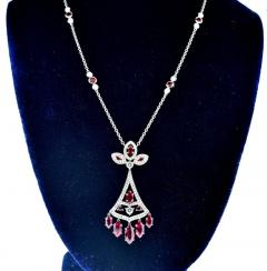 Faberg Burma ruby and Diamond Necklace by Faberge New York - 1141434