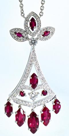 Faberg Burma ruby and Diamond Necklace by Faberge New York - 1141438