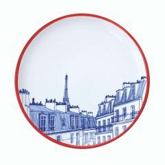 Faiencerie Georges Paris Plate Set 4 Iconic Rooftops - 1608344
