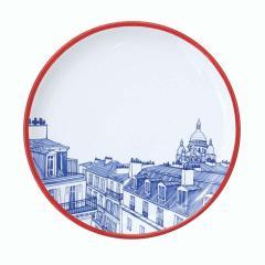 Faiencerie Georges Paris Plate Set 4 Iconic Rooftops - 1608345