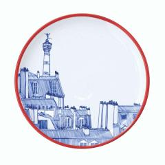 Faiencerie Georges Paris Plate Set 4 Iconic Rooftops - 1608349
