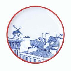 Faiencerie Georges Paris Plate Set 4 Iconic Rooftops - 1608352