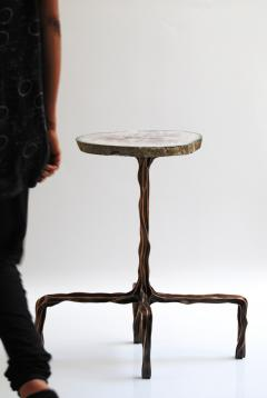 Fakasaka Milla side table with agate top - 1955935