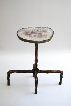 Fakasaka Milla side table with agate top - 1955936