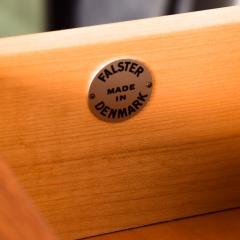 Falster FALSTER Teak Highboy Dresser Chest on Peg Legs Scandia 1960s Denmark - 2018851