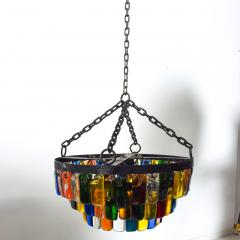 Feders MidCentury Mexican Modernist Chandelier by FEDERS Delfinger 3 Tiers Color Glass - 1233144