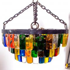 Feders MidCentury Mexican Modernist Chandelier by FEDERS Delfinger 3 Tiers Color Glass - 1233150