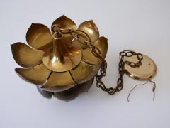Feldman Lighting Co Amazing Mid Century Modern Brass Lotus Pendant Lamp by Feldman Lighting 1960s - 1801440