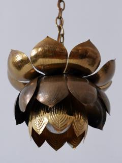 Feldman Lighting Co Amazing Mid Century Modern Brass Lotus Pendant Lamp by Feldman Lighting 1960s - 1801446