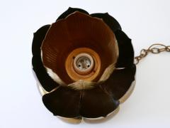 Feldman Lighting Co Amazing Mid Century Modern Brass Lotus Pendant Lamp by Feldman Lighting 1960s - 1801448