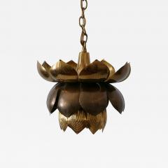 Feldman Lighting Co Amazing Mid Century Modern Brass Lotus Pendant Lamp by Feldman Lighting 1960s - 1804034