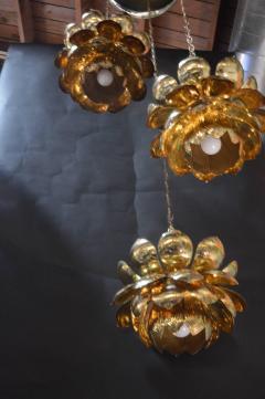 Feldman Lighting Co Brass Lotus Blossoms Pendant Chandelier - 547579