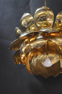 Feldman Lighting Co Brass Lotus Blossoms Pendant Chandelier - 547580