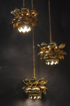 Feldman Lighting Co Brass Lotus Blossoms Pendant Chandelier - 547581