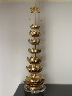 Feldman Lighting Co Brass Lotus Lamp - 1047447