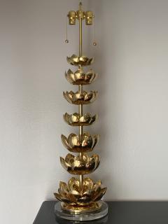 Feldman Lighting Co Brass Lotus Lamp - 1047449