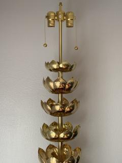Feldman Lighting Co Brass Lotus Lamp - 1049064