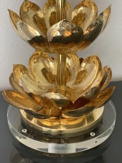 Feldman Lighting Co Brass Lotus Lamp - 1049065