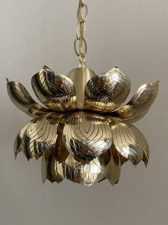 Feldman Lighting Co Brass Lotus Pendent Light - 2048945