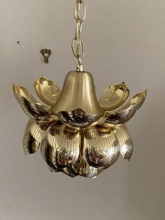 Feldman Lighting Co Brass Lotus Pendent Light - 2048947