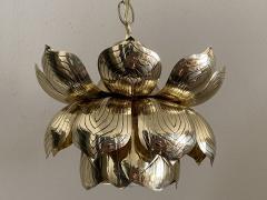 Feldman Lighting Co Brass Lotus Pendent Light - 2048949