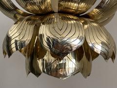 Feldman Lighting Co Brass Lotus Pendent Light - 2048951