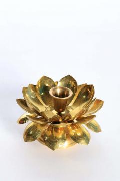Feldman Lighting Co Feldman Brass Lotus Candle Holders in the Style of Parzinger - 1975119