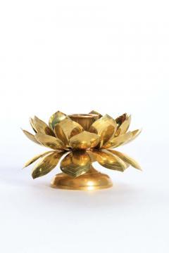 Feldman Lighting Co Feldman Brass Lotus Candle Holders in the Style of Parzinger - 1975122